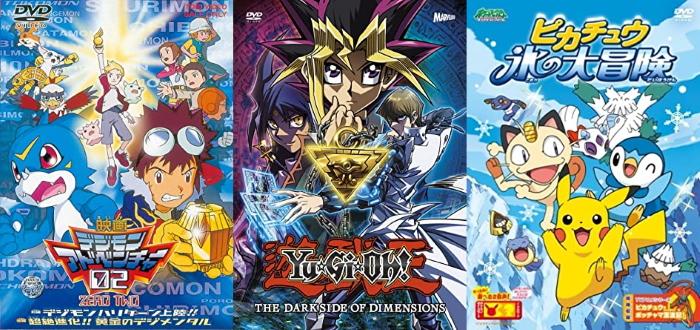Pokemon, Yu-Gi-Oh, Digimon